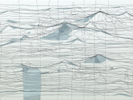 Kunst Konstanz: Fiktive Seelenlandschaft als Faden-Collage