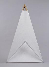 Holz-Objekt, zweiteiliges Dreiecks-Ensemble.