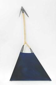 Keilrahmen-Fragment, dreieckig, aus Aststücken..