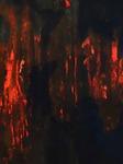 """Ausschnitt 2 von """"Fixierte Flüchtigkeit"""", Acrylbild auf Papier, 100 × 140 cm (B x H)"""