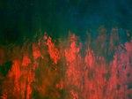 """Ausschnitt 3 von """"Fixierte Flüchtigkeit"""", Acrylbild auf Papier, 100 × 140 cm (B x H)"""