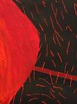 """Roter Pollenflug"" - Ausschnitt 2, Originalbildformat 100 × 140 cm (B x H)"